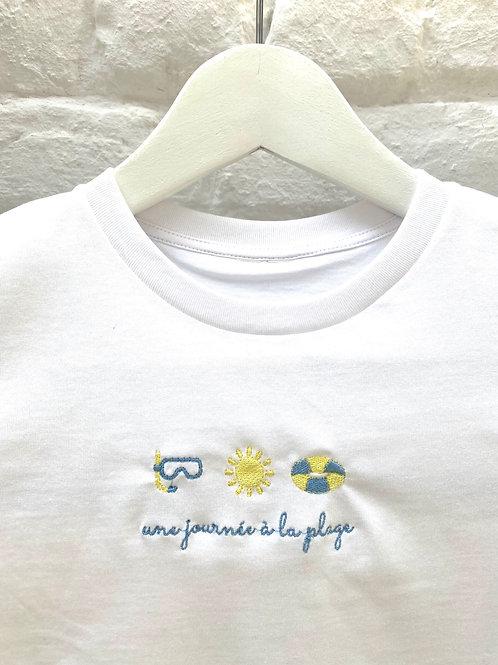 T-shirt 'une journée à la plage'
