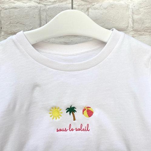 T-shirt 'sous le soleil'