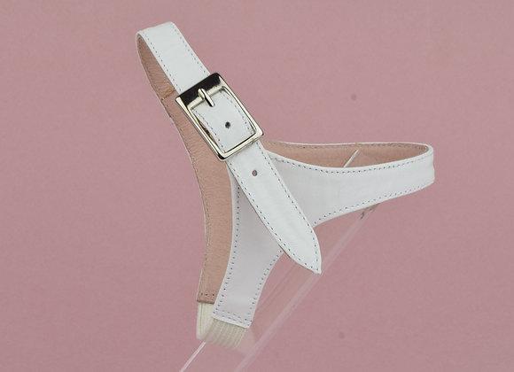 Brides amovibles cuir mat blanc