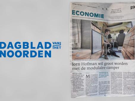 Jorn Hofman wil groot worden met de modulaire camper
