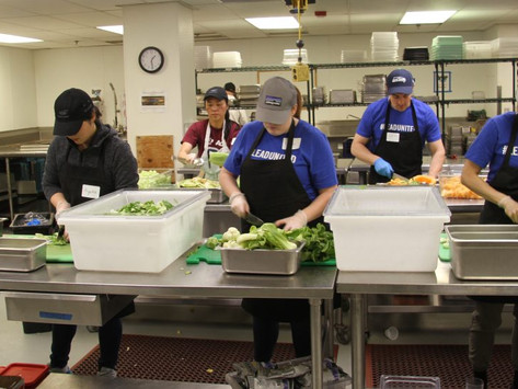 YP Impact Volunteer Event Recap: Making Meaningful Meals with FareStart