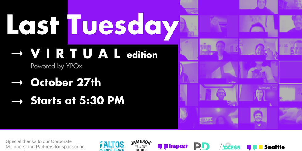 Last Tuesday - October | a (Virtual) Happy Hour