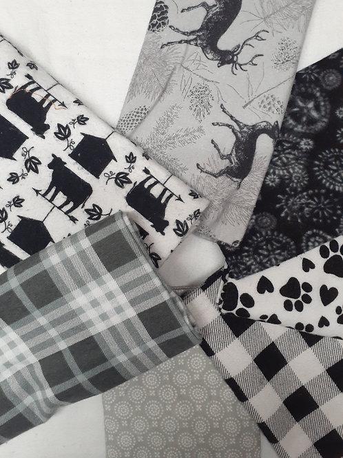 Towels - Black/Grey