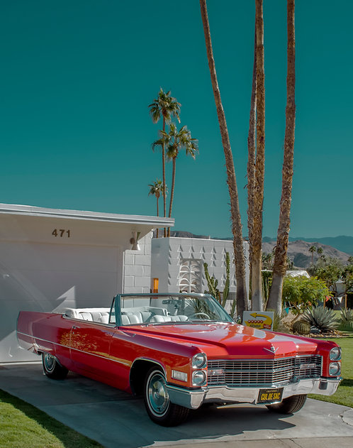 Red Caddy Convertible