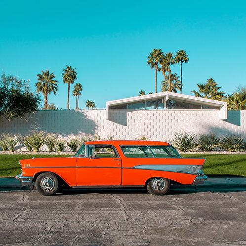 Orange Chevy Bel Air Wagon