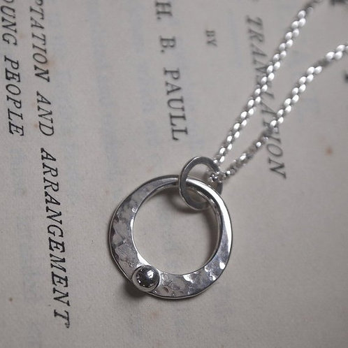 Pebble & Forged Ring Pendant