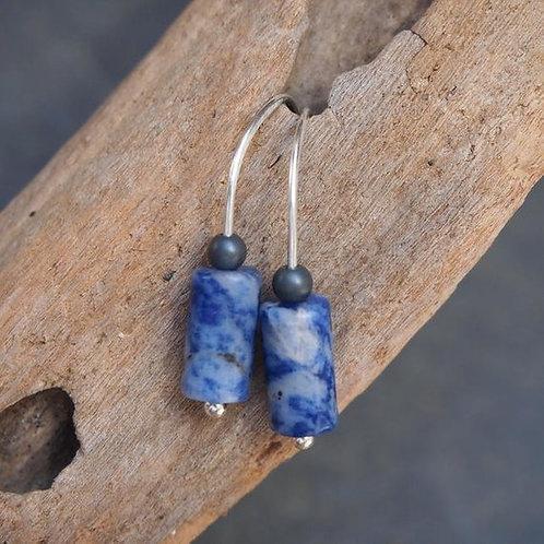 Blue Sodalite Drop Earrings