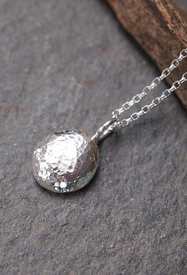 Solid Silver Pebble Necklace