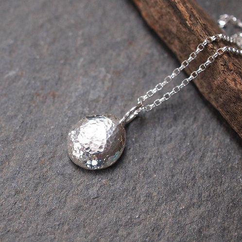 Solid Silver Pebble Necklace