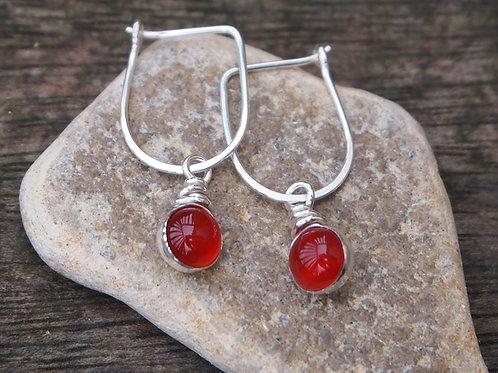 Red Carnelian Earrings