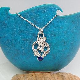 Organic Fusion Lapis Necklace