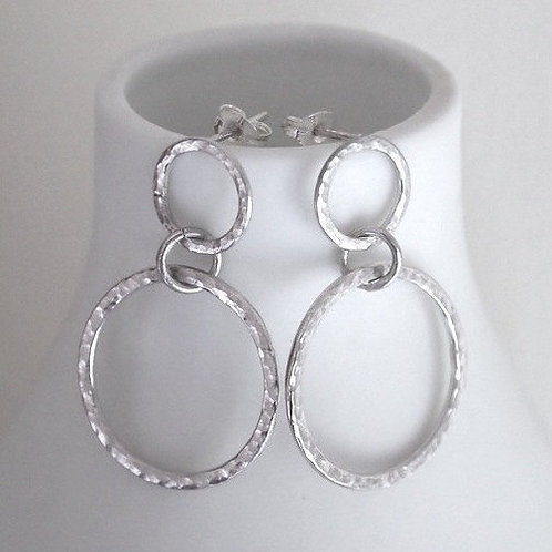 Double hoop stud earrings