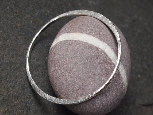 Forged Solid Silver Bangle