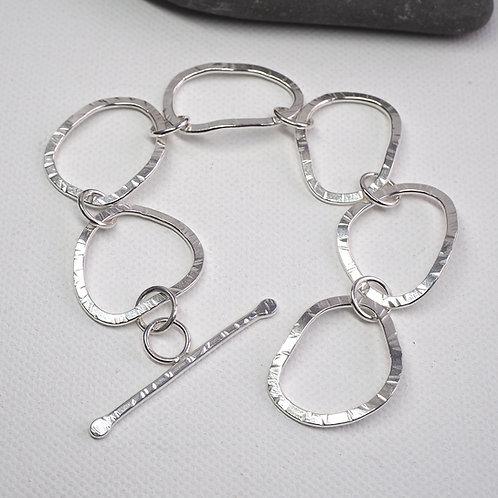 Large Link Silver Bracelet