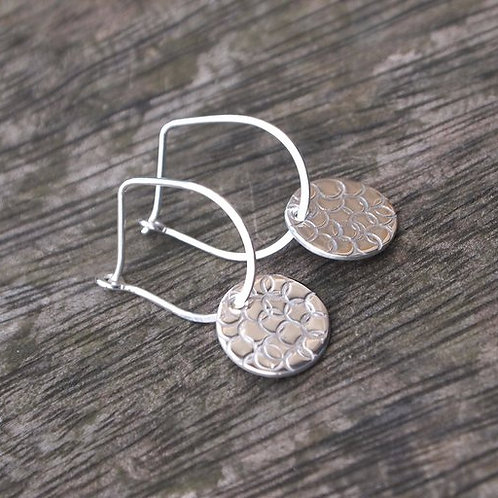 Bubble Disc Drop Earrings