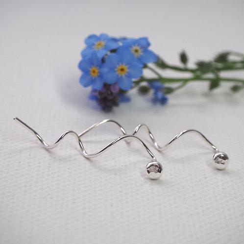 Minimalist Twist Stud Earrings