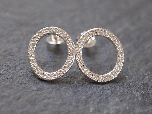 Silver Stud Ring Earrings