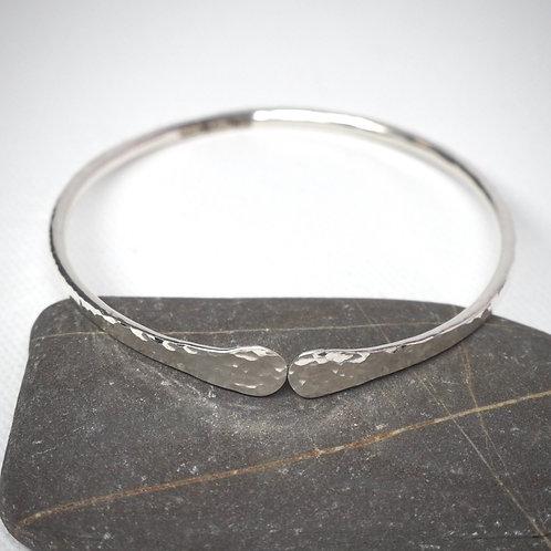 Small Solid Silver Bangle