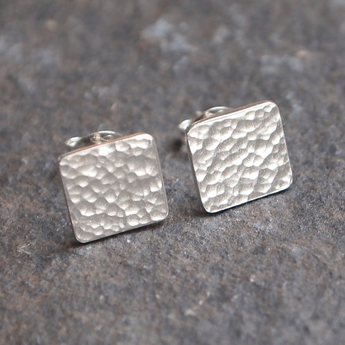 Hammered Square Studs
