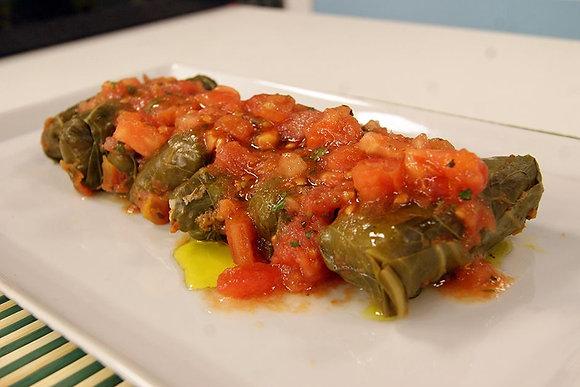 Rolinho de Couve com Carne Moída + Arroz 7 Grãos + Purê de Mandioquinha | 320g
