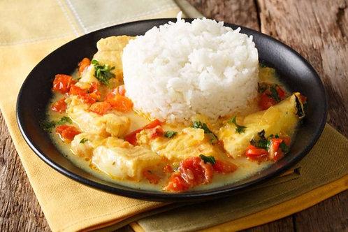 Peixe ao Leite de Coco e Curry + Arroz | 350g