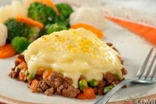 Escondidinho de Carne Moída com Mandioca + Legumes no Vapor   350g