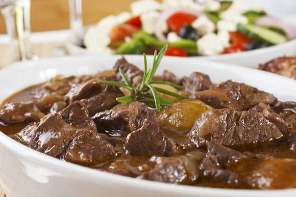 Iscas de Carne ao Molho Roti + Palmito na Manteiga de Ervas | 300g