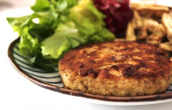 Hambúrguer Proteico de Frango com Batata Doce na Manteiga de Ervas | 260g
