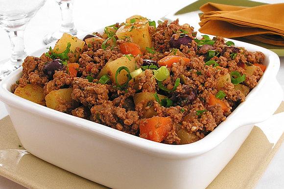 Carne Moída Refogada com Legumes + Purê de Batata + Arroz + Feijão | 350g