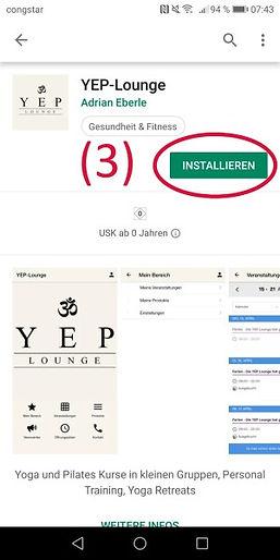 Die YEP App kannst Du einfach installieren