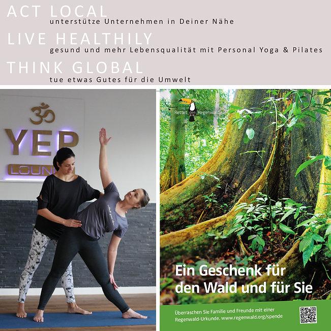 Yoga Gutschein für die YEP Lounge