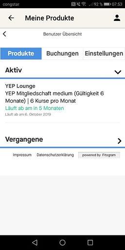 Verwaltung meiner Produkte in der YEP App