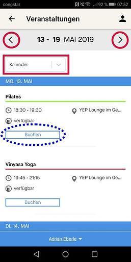 Yoga, Pilates und Entspannungskurse buchen