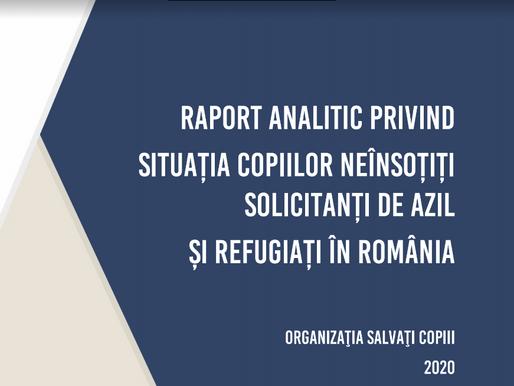 Raport analitic privind situația copiilor neînsoțiți solicitanți de azil și refugiați în România