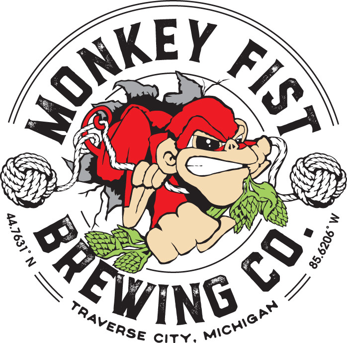 Monkey Fist Brewing Michigan made craft beer, downtown Traverse City