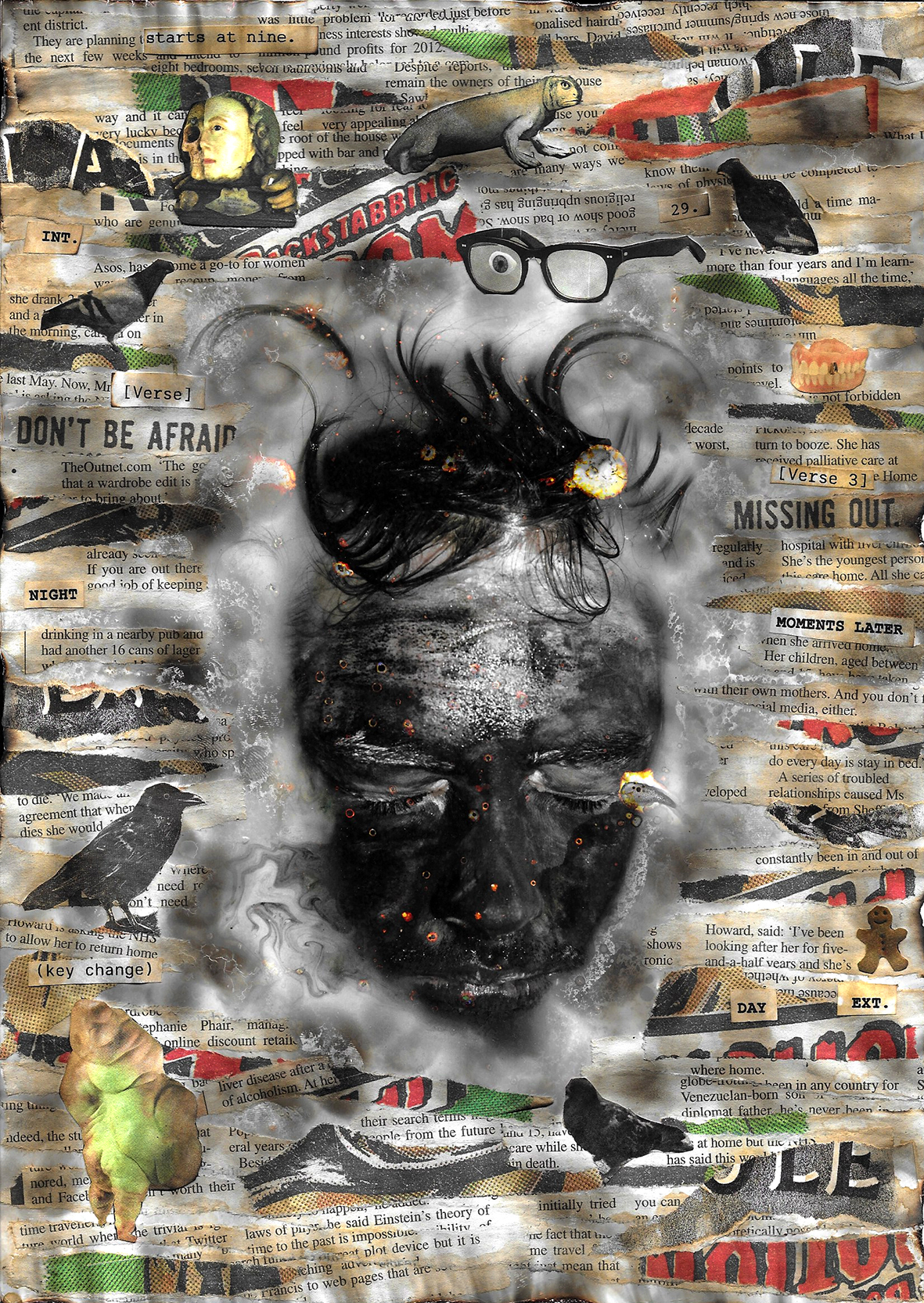 Black Collage Burnt by J. Whitehouse