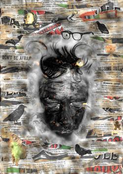 Black Collage Burnt by J. Whitehouse