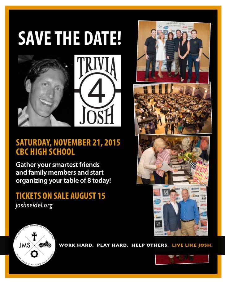 2015 Trivia 4 Josh // Save the Date