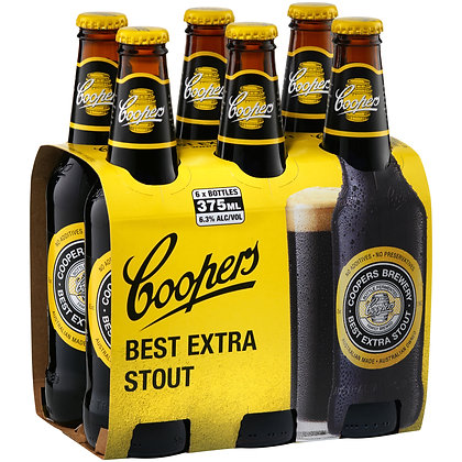 COOPERS EXTRA STOUT STUBBIES 375mL