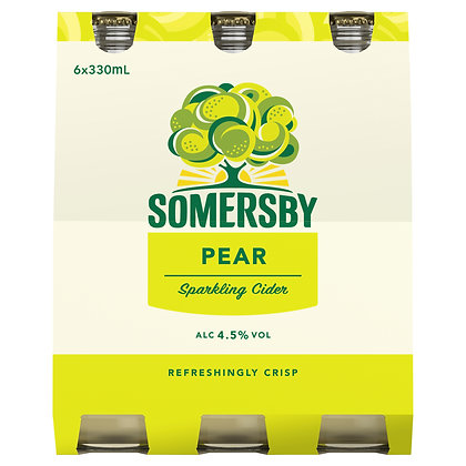 SOMERSBY PEAR CIDER 6x330mL
