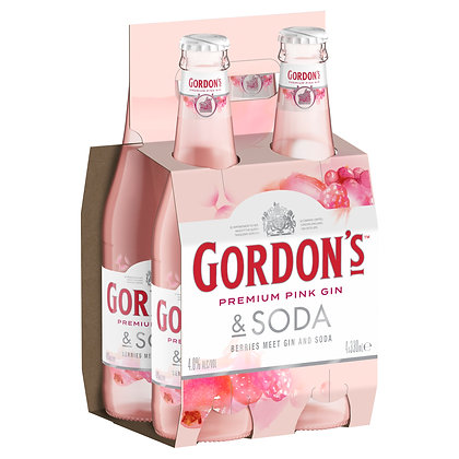 GORDON'S PINK GIN AND TONIC 4x275mL