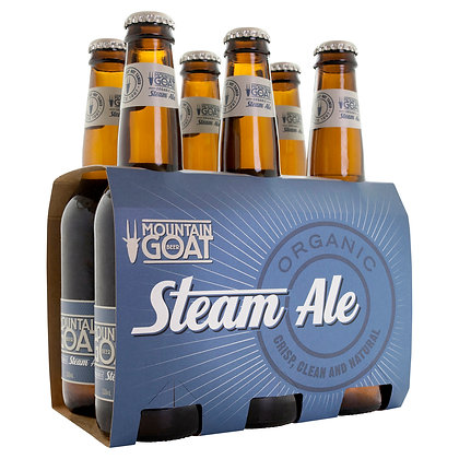 MOUNTAIN GOAT ORGANIC STEAM ALE 6x330mL
