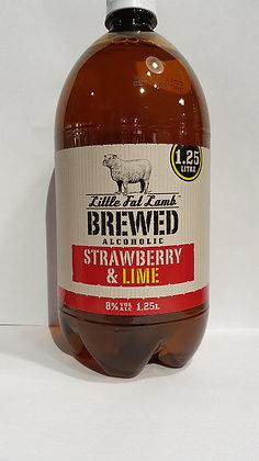 LITTLE FAT LAMB STRAWBERRY & LIME CIDER 1.25L