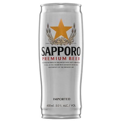 SAPPORO LAGER CAN 650mL
