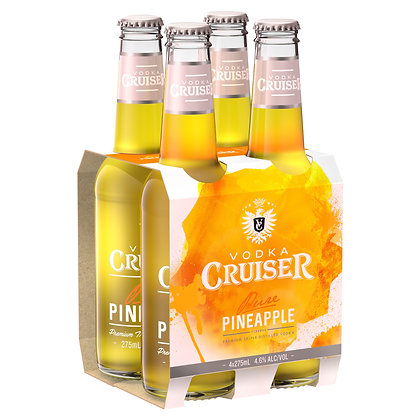 VODKA CRUISER PURE PINEAPPLE 4x275mL