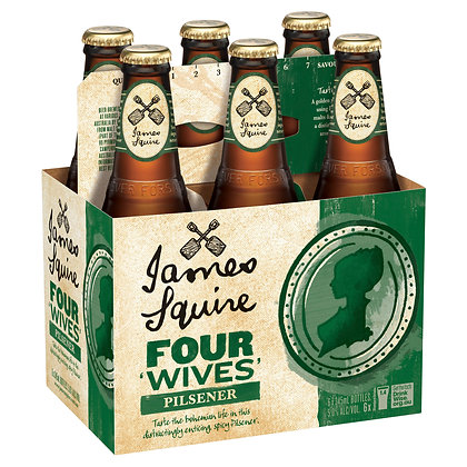 JAMES SQUIRE FOUR WIVES PILSNER 6x345mL