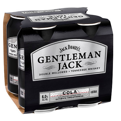 GENTLEMAN JACK AND COLA 4 PACK