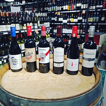 [BUNDLE] 6 INCREDIBLE IMPORTED RED WINES