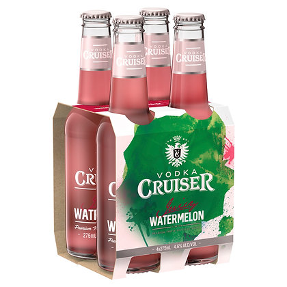 VODKA CRUISER JUICY WATERMELON 4x275mL