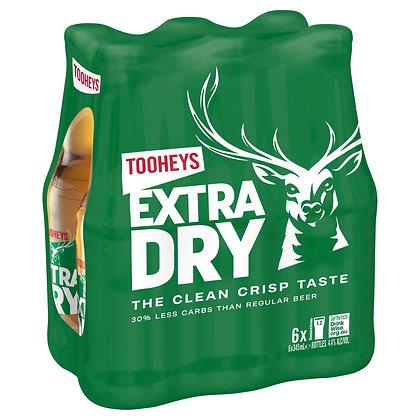 TOOHEYS EXTRA DRY STUBBIES 6x345mL